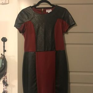 Red and Black bodycon dress size medium